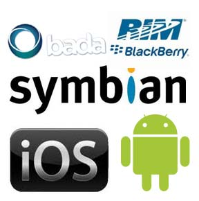 Mobile os android iphone rim blackberry